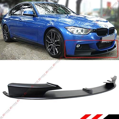 Fits for 2012-2018 BMW F30 F31 3 Series Sedan & Wagon With M Sport Bumper Performance Front Lip Spoiler Splitter Kit- Matt Black Finish