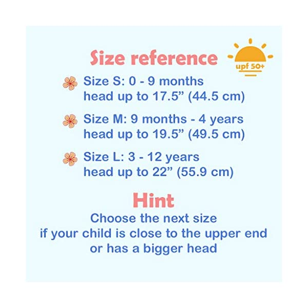 Ami&Li tots Bucket Sun Hat Adjustable Sunscreen Protection Summer Hat for Baby Girl Boy Infant Kid Toddler Child UPF 50+
