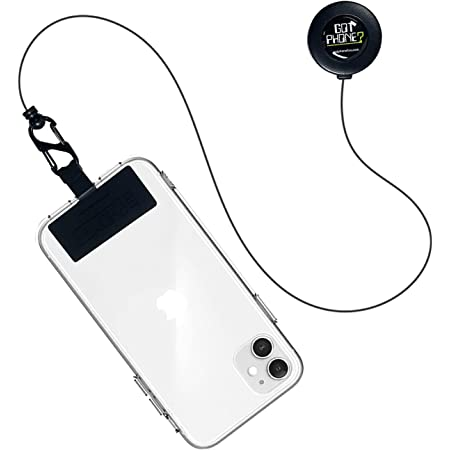 Got Phone Leash, Retractable Phone Reel Pad, for Most Phones and Cellphone Cases (Black)