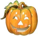 Cosmos 10362 Fine Porcelain Pumpkin Tea Light Holder, 4-3/8-Inch