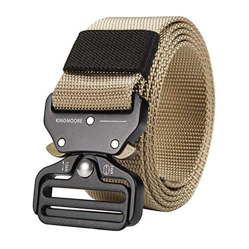 Why Choose KingMoore Men's Tactical Belt Heavy Duty Webbing Belt Adjustable Military Style Nylon Bel...