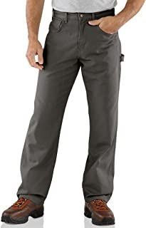 """Carhartt 30"""" Loose Fit Canvas Carpenter Jeans, CHARCOAL, 36 X 30"""