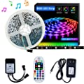 LED Strip Light SELIAN 5050 32.8ft/10m LED Lighting Strips Sync to Music RGB Flexible Rope Light with 12V Power Supply Non-Waterproof 300LED Strip Lighting for Home Indoor Decoration