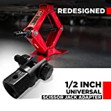 T1A Scissor Jack Adapter for 1/2 Inch Impact Wrench or 13/16 Inch Lug Wrench Adaptor, Used for Automotive Jack, RV or Trailer Leveling Jacks. New Improved More Universal Design by T1A USA