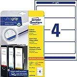 AVERY Zweckform L4761-25 Ordnerrücken Etiketten (mit ultragrip, 61 x 192 mm auf DIN A4, breit/kurz, …