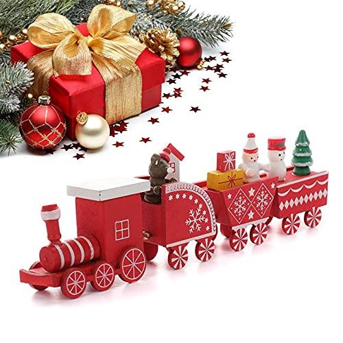 Navidad Decoración Casa Tren Marca SUWYNJ