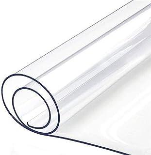 HHUU Transparent bordsduk dyna 2 mm tjock PVC vattentät skrivbordsunderlägg, halkfri mjuk glasväv skyddsdyna för matbord k...