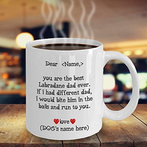 Taza personalizada de labradane para papá, labradane papá, jarra para perro, divertido regalo para amante de los perros, 11 onzas
