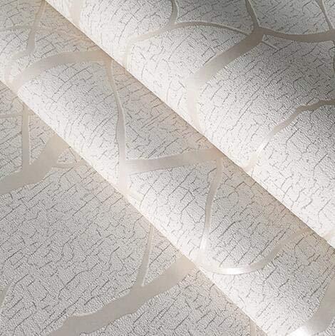 Jidan 3D Wall Panels Wallpaper Wall Stickers Murals Grey 3d Embossed Crushed Velvet Wallpaper Bedroom Living Room Wall Decor Wall Paper Flocked Brown