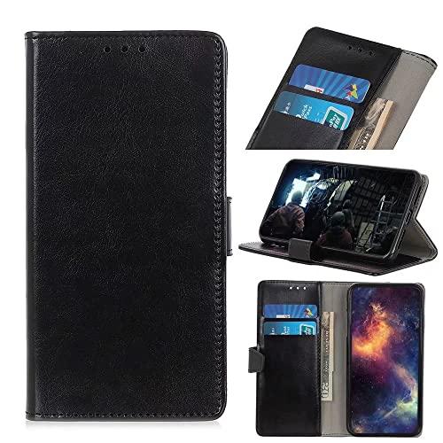 Funda para Samsung Galaxy S22 Plus, de cuero sintético a prueba de golpes, diseño de libro, folio con tapa, ranura para tarjeta, cierre magnético para Samsung Galaxy S22 Plus, color negro