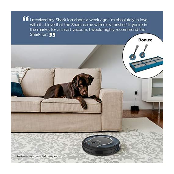 Shark ion with wi-fi robot vacuum qt 4 three brush types. One powerful clean: tri-brush system combines side brushes, channel brushes, and a multi-surface brushroll to handle all debris on all surfaces. Completely integrated in your home: shark ion robot senses ledges and stairs, avoids damaging furniture and walls, and maneuvers around potential stuck situations, truly knowing your home. Clean from your phone: sharkclean app lets you start and stop cleaning and schedule your robot to clean whenever you want.