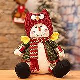 LSGNB Navidad Muñeco De Nieve Anciano Posando Accesorios Decorativos Decoraciones De Navidad (Size : 1003)