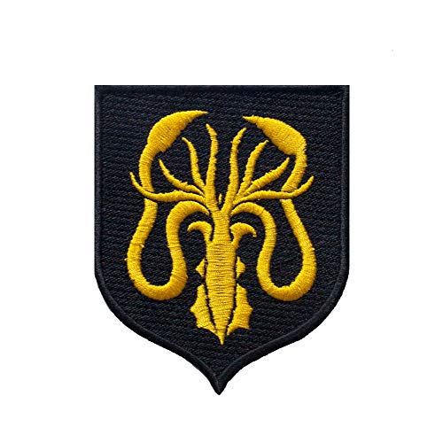 Greyjoy Sigil. Patches Iron on. Sew On. Shield size 3.5'' X 4'', 90mm X 100mm.