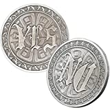 Decision Maker Flipping Coins YES NO Challenge Coin (Ancient Silver)