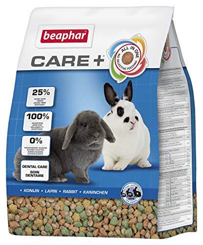 beaphar Care+ Kaninchen | Kaninchenfutter mit Alfalfa aus Bergwiesen | Fördert den gesunden Zahnabrieb | Niedriger Fettgehalt | 5 kg Beutel