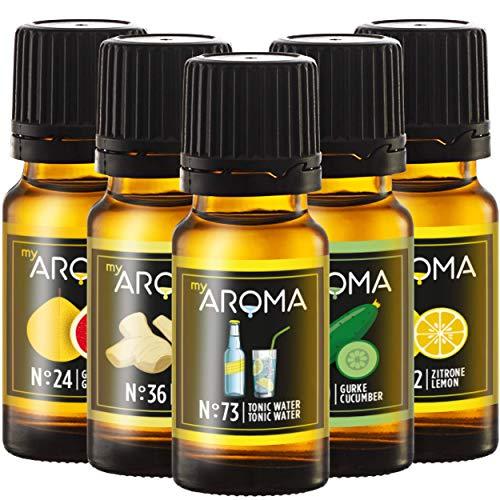 myAROMA - Set: Gin ist In! - rein natürliches Aroma zum selbst mischen (5x 10ml)