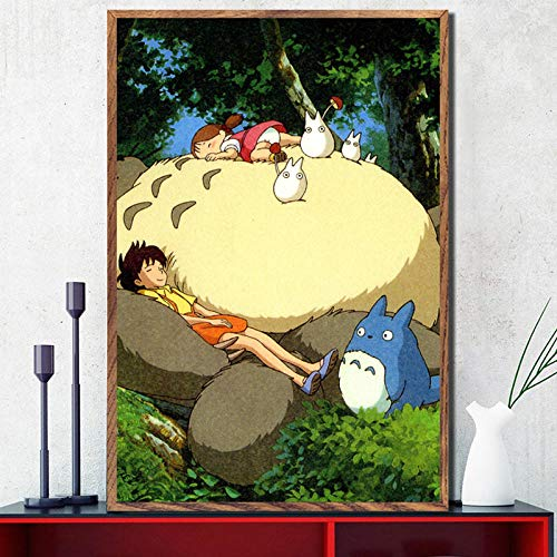 crjzty DIY Dipingere con i Numeri Samurai Pittura a Olio Poster e Stampe My NeighborAnime Classic Anime Poster Wall Art Picture Canvas Painting for Home Decor-x_CM_Unframed_