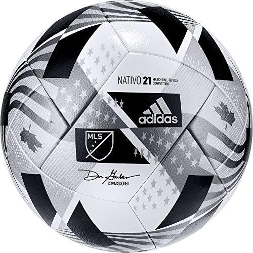 adidas mens MLS Com NFHS Soccer Ball White/Black/Iron...