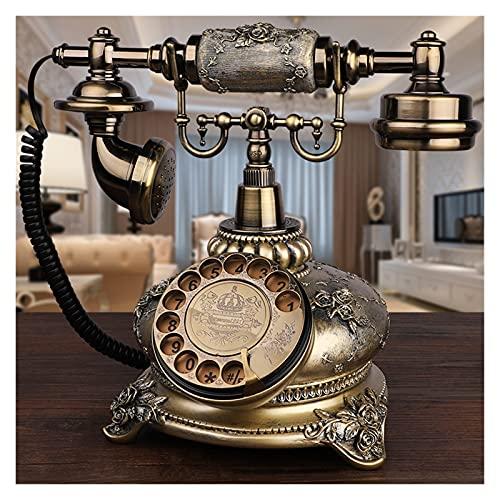BTMING Teléfono Antiguo Europeo Teléfono Home Retro Teléfono Creativo Turnato Turnato de Moda Teléfono Viejo Moda Tarjeta Inalámbrica