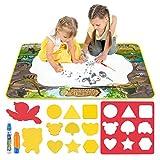 Dreamingbox Giocattoli Bambini 1-6 Anni, Tappeto Magico Bambini 1 2 3 4 5 6 Anni Regali Giocattoli per Bambino 1-6 Anni Regali di Compleanno Tappeto da Colorare Bambini Giocattoli Educativi