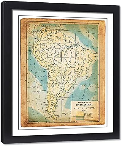 Media Storehouse Framed 20x16 Photo of map New color 1898 South America 2 Regular store
