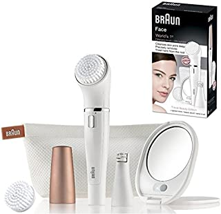 Braun Face 840 Travel Beauty Edition - Cepillo de limpieza y depilador facial