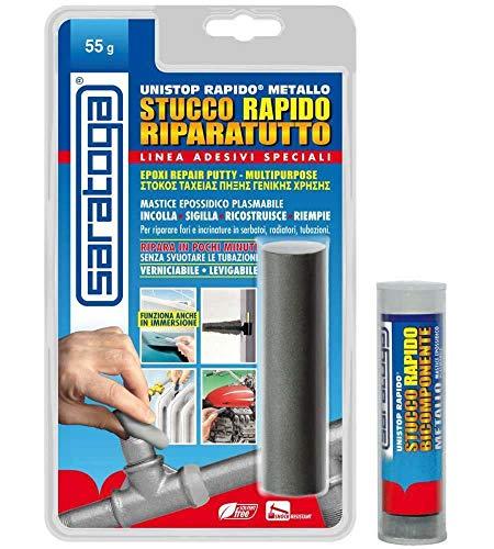 Unistop rapido riparatutto 55gr stucco epossidico bicomponente in blister