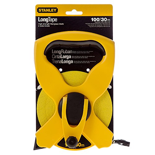 Stanley Open Reel F/GLass Tape 30M/100Ft 234791 (Inches/CM)