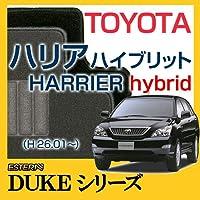 【ECONOMYシリーズ】T0YOTA トヨタ ハリアハイブリットHARRIER hybrid フロアマット カーマット 自動車マット カーペット 車マット(H26.01~,AVU65W) ブラック ab-to-hahy-26avu65w-dukebk