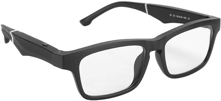 Liyeehao Portable Smart Glasses, USB Charging Smart Sunglasses, IP64 Waterproof for Driving(Black)