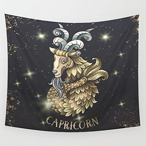 Tapiz de estrellas Constelación Aries Piscis Estrellas negras Tapices de Escorpio Brujería Astrología Tapiz colgante de pared