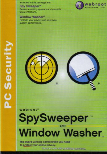 Webroot Spy Sweeper and Window Washer