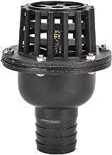 Waterpomp voetklep,Zwarte PVC lage druk platte terugslagklep, Waterpomp Accessoires voor vloeistofmachine (1,5 inch)