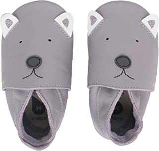 Bobux Woof Gull Grey Leather Baby Soft Soles Shoes
