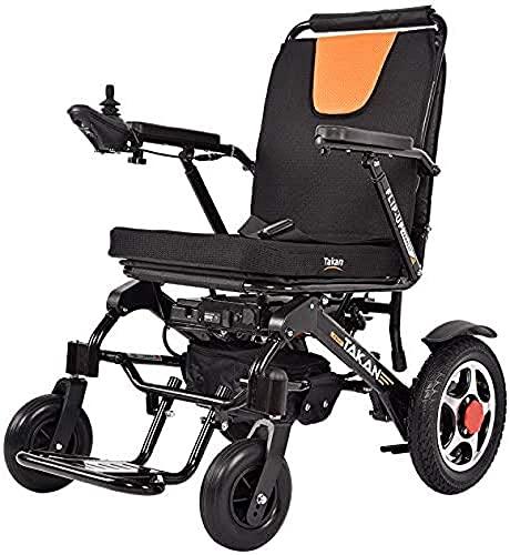 FGVDJ Silla de Ruedas eléctrica, Lujoso Andador portátil Plegable, con Motor de 500 W, Resistencia de 20 km, Adecuado para Personas Mayores con discapacidades