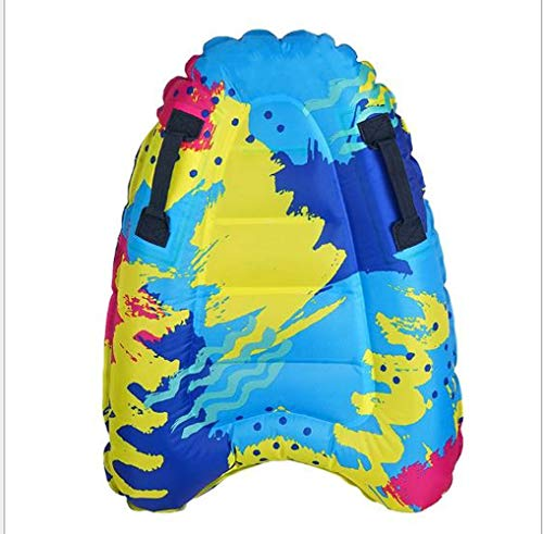 4 EVER Inflatable Body Surfing Float Board Surf Rider for Slip and Slides Pool Water Game Portable Dual Boogie Board Wave Bodyboard Water Beach Fun Toy Double-Color Design for Kids and Adult 3020Inch