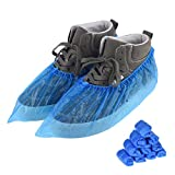 100 PCS(50 Pairs)Shoe Covers Disposable, Green Convenience, Recyclable, Boot Cover, Waterproof, Non slip, Dust proof, One Size Fit All, Durable CPE Material, Blue, Protect Your Shoes, Floor, Carpet