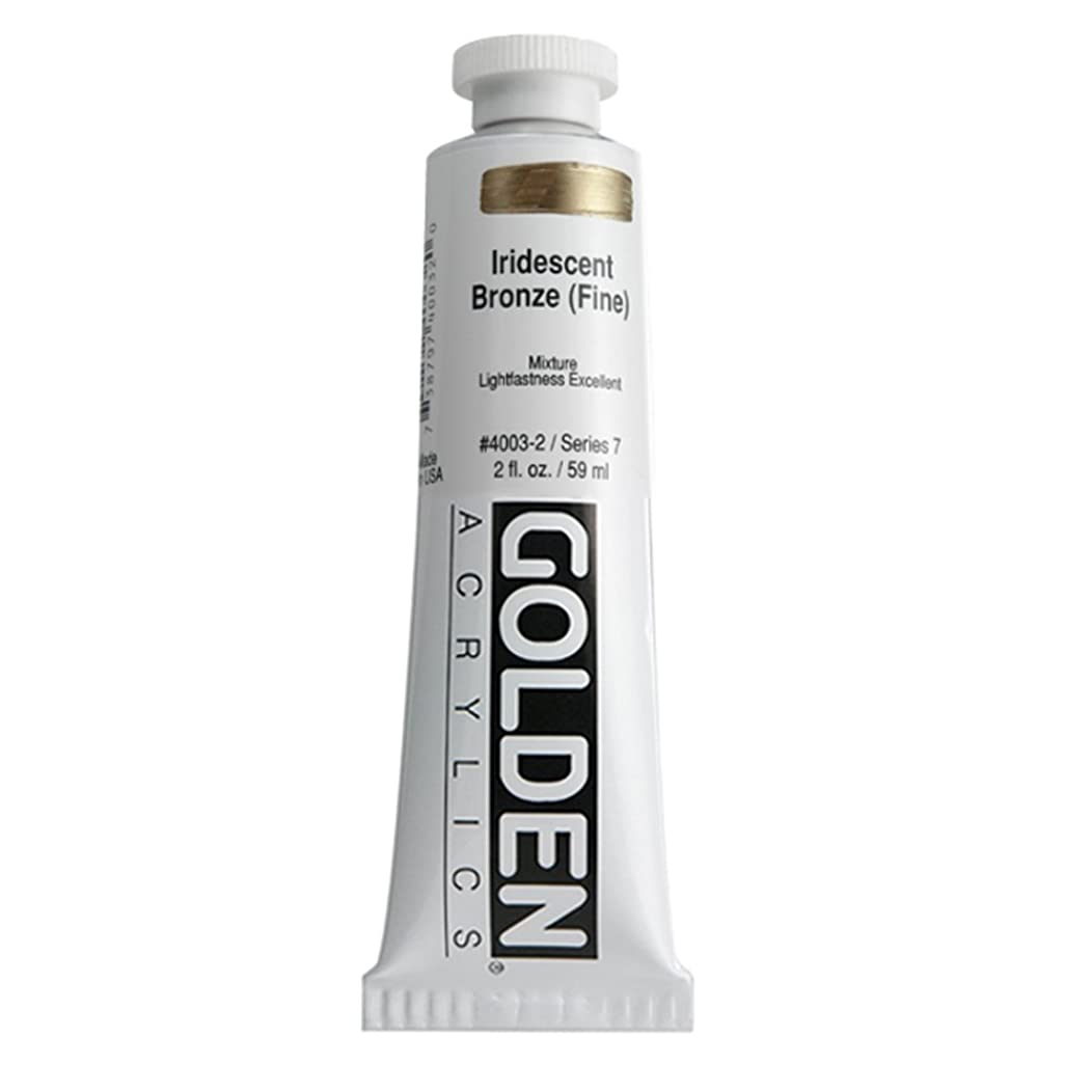 2 Oz Heavy Body Iridescent Color Acrylic Paint Color: Bronze (Fine)