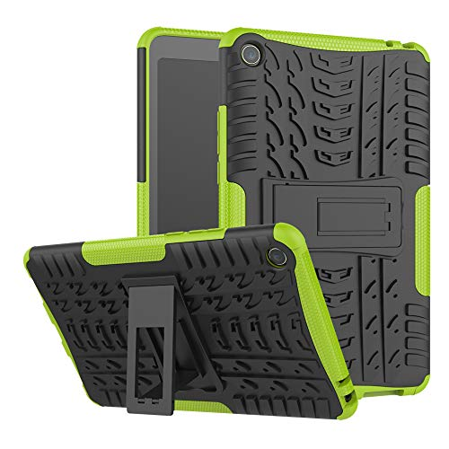 TenYll Xiaomi Mi Pad 4 Hülle, 2in1 Silikon Rückseite Schutzhülle,Heavy Duty Tough Rugged Shock Proof Hülle,Mit Halterung Doppeltem Schutz Cover für Xiaomi Mi Pad 4 -Grün