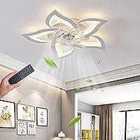 照明付きLEDシーリングファンファン付きのモダンな調光可能なファンシーリングライト120WリモコンファンシーリングランプAPP制御タイミング寝室ランプ子供部屋