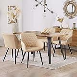 Zoom IMG-2 tukailai set di 4 sedie