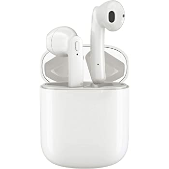 Wireless Earbuds, Bluetooth 5.0 Headphones Hi-Fi Stereo Bluetooth Earbuds Half in-Ear True Wireless Earbuds with Buit-in Mic Headset 35H Playtime with Charging Case Waterproof for Work/Travel/Gym
