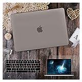 GYY para MacBook Air 11 12 13.3'Cubierta Clara De Cristal para MacBook Air Pro 13 15 16 Touch Barra/Touch ID A2289 A2338 M1 A2159 (Color : Matte Grey, Size : Pro15 A1707 A1990)