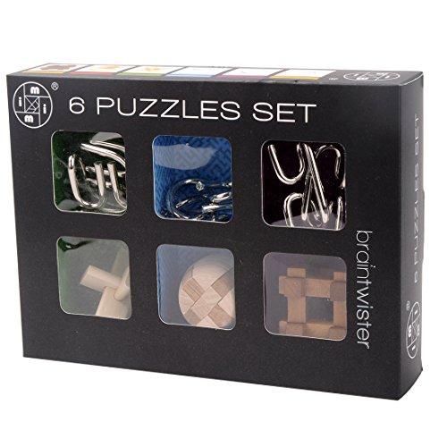 6 Piezas Rompecabezas Metal Set, 3D Rompecabezas Brain Teaser Puzzle Juguetes Mágicos de Alambre de Metal Set para Niños y Adultos