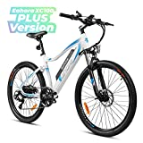 eAhora XC100 26 Inch 48V Mountain Electric Bikes for Adult 350W Urban Commuting Electric Bicycle Removable Lithium Battery, E-PAS Recharge System, Shimano 7-Speed Gear Shifts