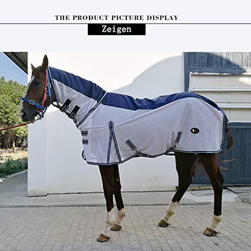 Wyujie Atmungsaktiv Fliegendecke Mit Halsteil Fliegendecke Pferd Ekzemerdecke Fliegendecke Pferd 140 Ekzemer Halsteil Fliegendecke Pferd,130cm