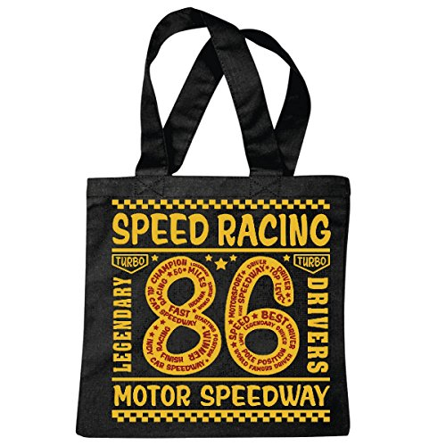 Tasche Umhängetasche Speed Racing Motor Speedway Legendary Drivers Race Racing Formel Motor Team Speed Speedway Classic American Einkaufstasche Schulbeutel Turnbeutel in Schwarz