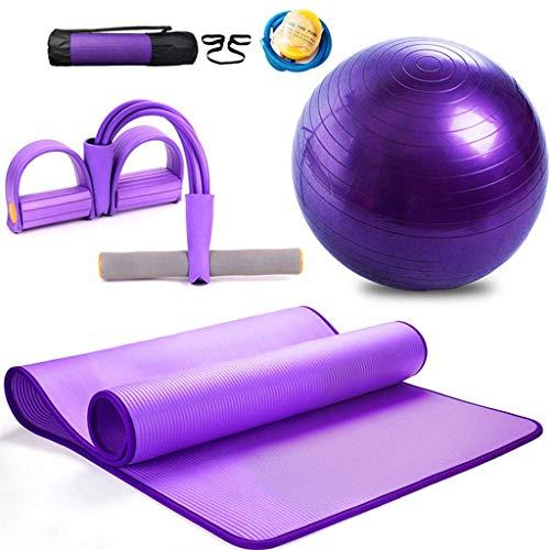 QQB Dreiteilige Yoga Set for Anfänger, Pilates Ball, Yoga-Matte, und -Spannung sind geeignet for Home Sport und Fitness 183 * 80 * 1,0 cm KNDTA