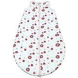 Gräfenstayn® Baby-Schlafsack ganzjährig für Jungen und Mädchen - verschiedene Motive und Größen - mit integriertem Reißverschluss - super weich und atmungsaktiv (Rosa-Weiss, 90cm)