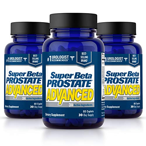 Super Beta Prostate Advanced Prostate Supplement for Men – Reduce Bathroom Trips, Promote Sleep, Support Urinary Health & Bladder Emptying. Beta-Sitosterol not Saw Palmetto. (180 Caplets, 3-Pack)